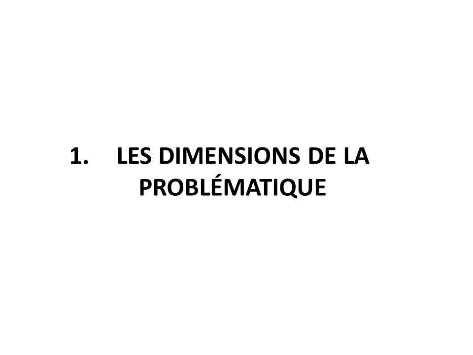 1. Les dimensions de la problématique