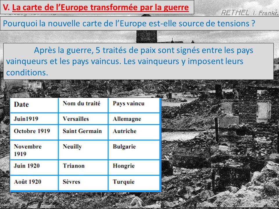 V. La carte de l'Europe transformée par la guerre