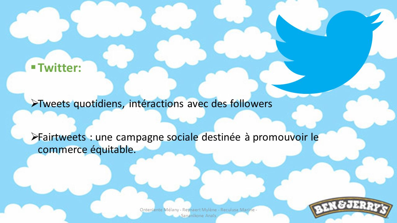Twitter: Tweets quotidiens, intéractions avec des followers