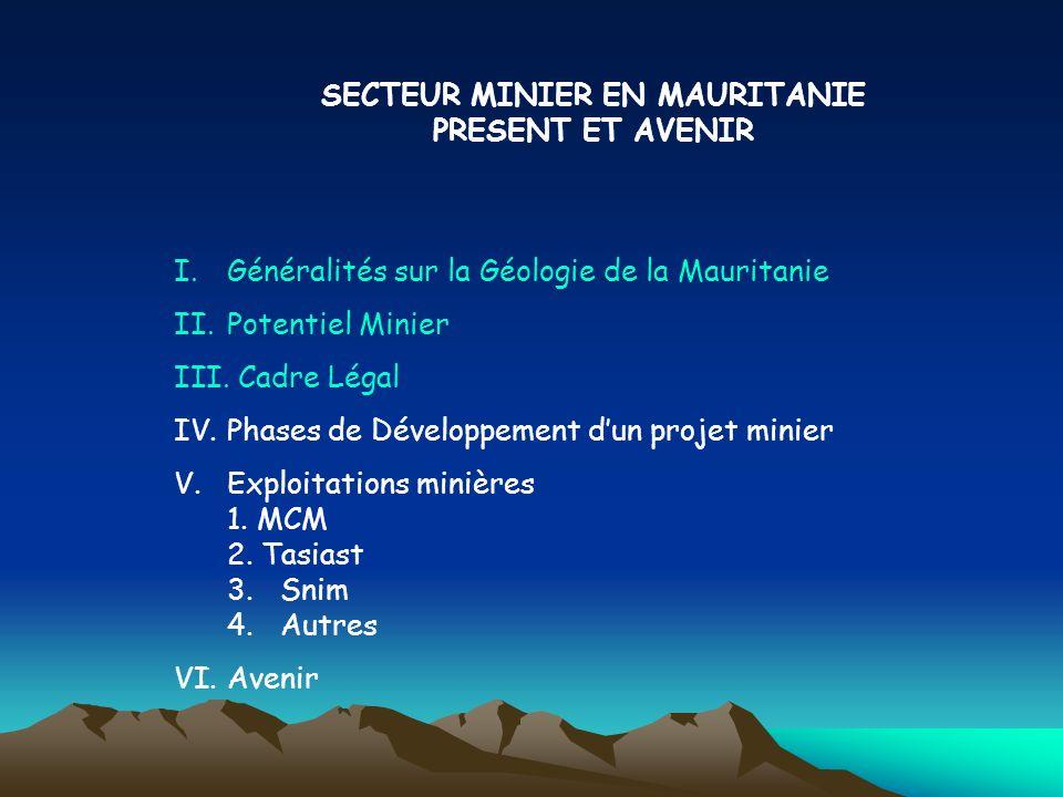SECTEUR MINIER EN MAURITANIE