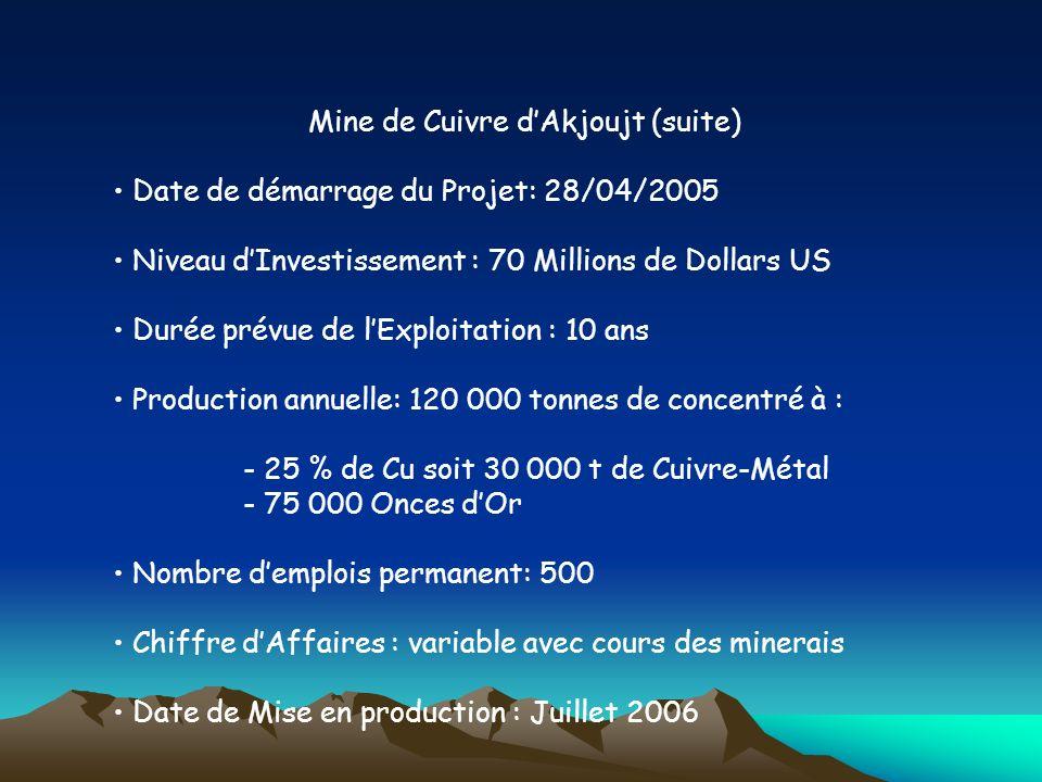 Mine de Cuivre d'Akjoujt (suite)