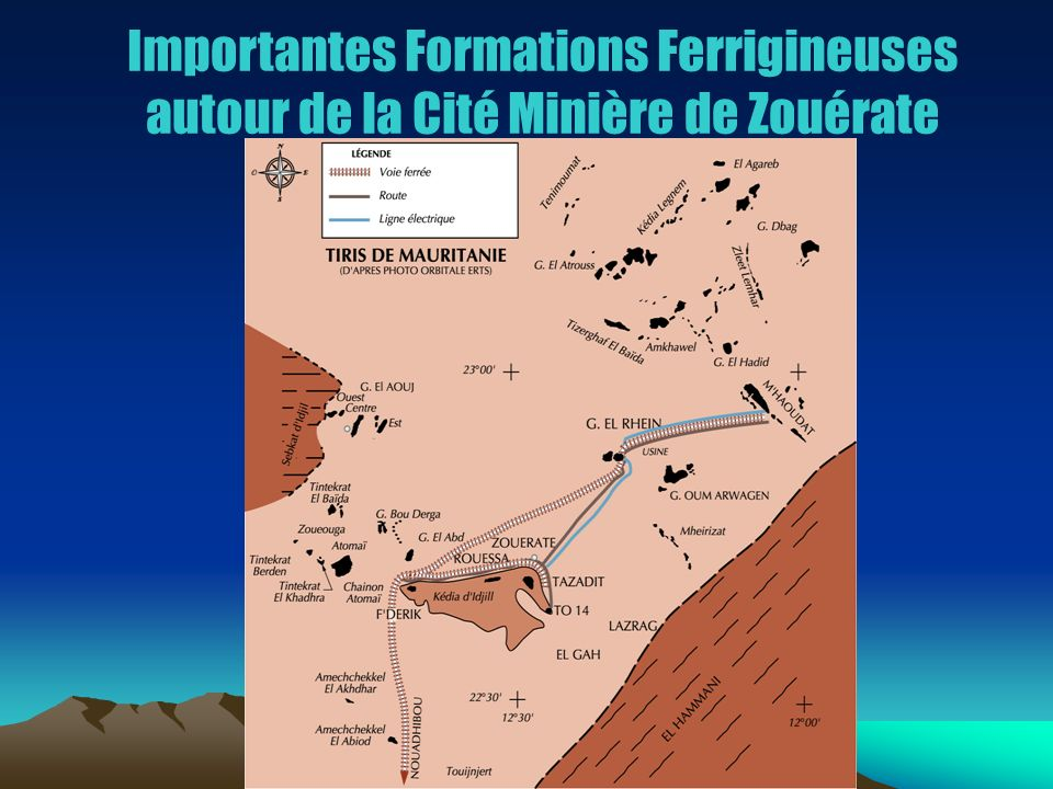 Importantes Formations Ferrigineuses autour de la Cité Minière de Zouérate