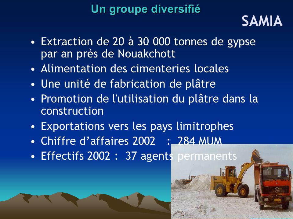 SAMIA Un groupe diversifié
