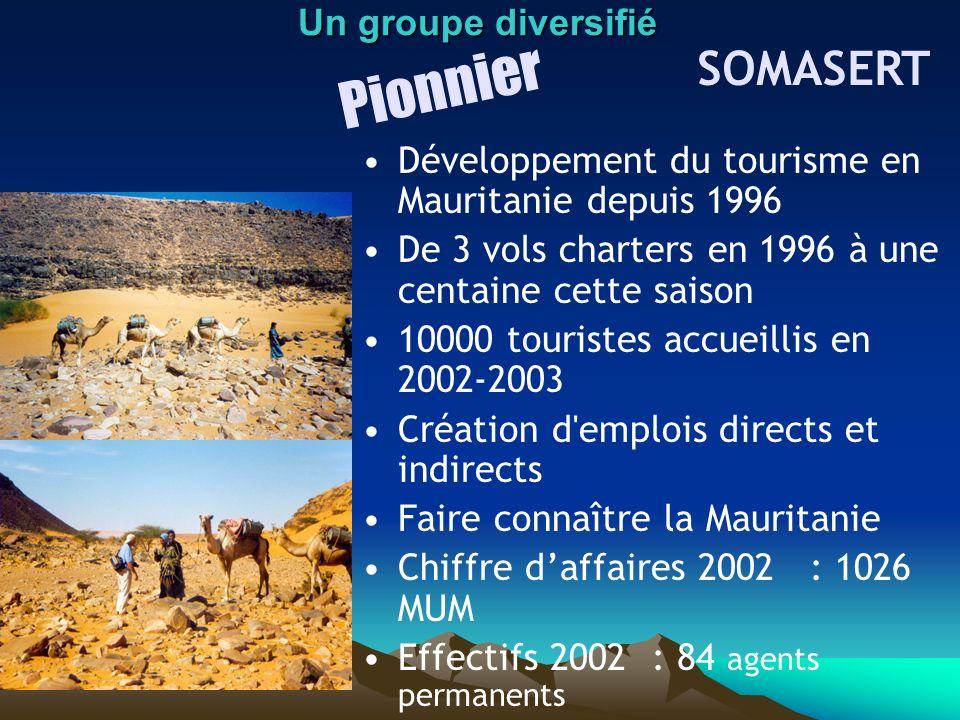 Pionnier SOMASERT Un groupe diversifié