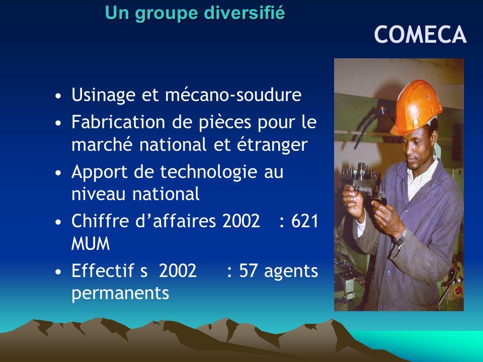 COMECA Un groupe diversifié Usinage et mécano-soudure