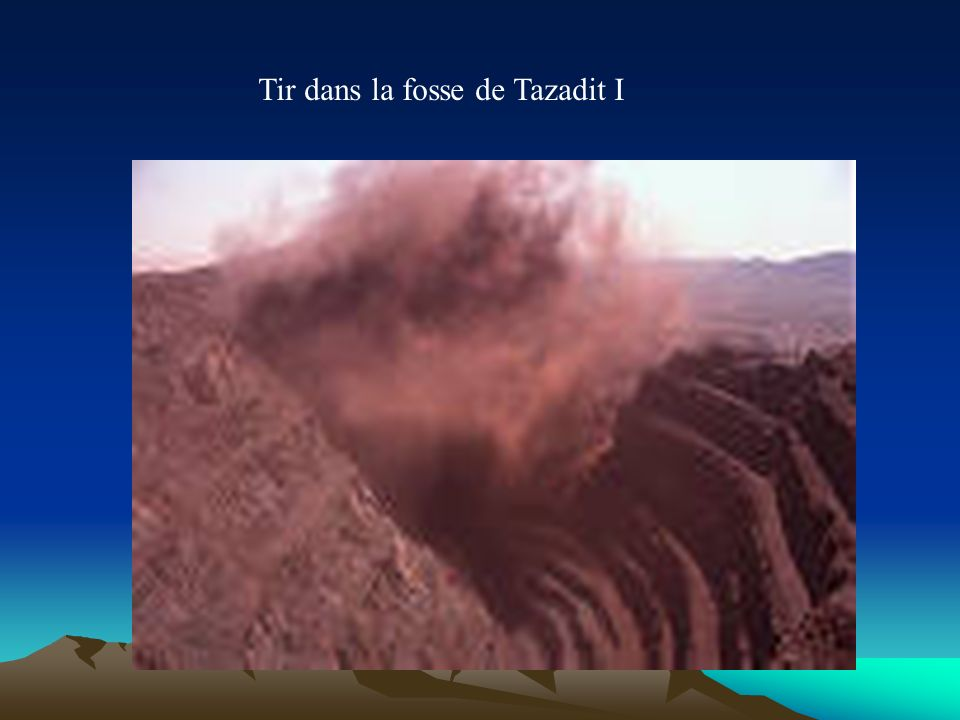 Tir dans la fosse de Tazadit I