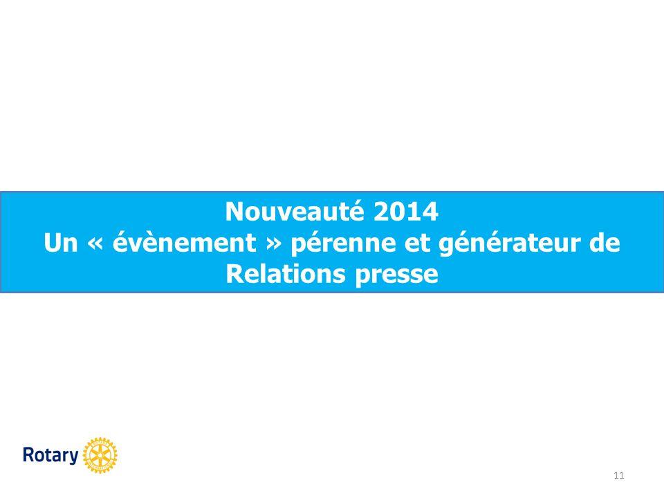 Un « évènement » pérenne et générateur de Relations presse