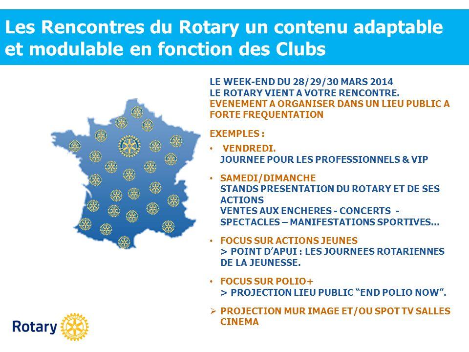 Les Rencontres du Rotary un contenu adaptable et modulable en fonction des Clubs