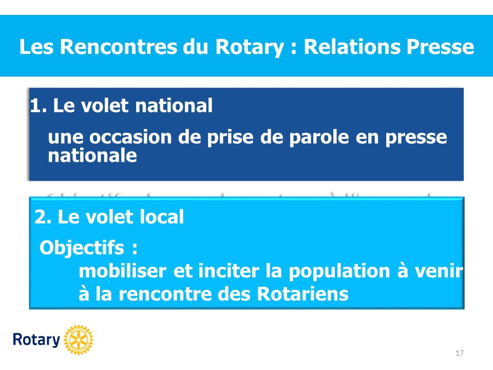 Les Rencontres du Rotary : Relations Presse