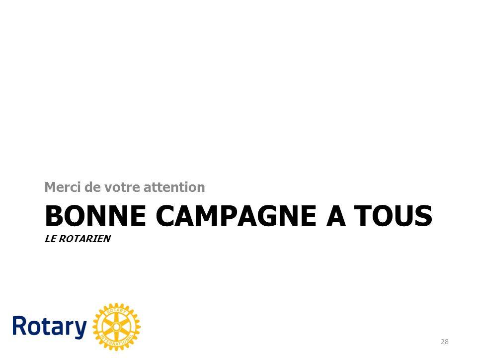 Bonne campagne a tous Le Rotarien