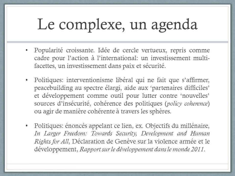 Le complexe, un agenda