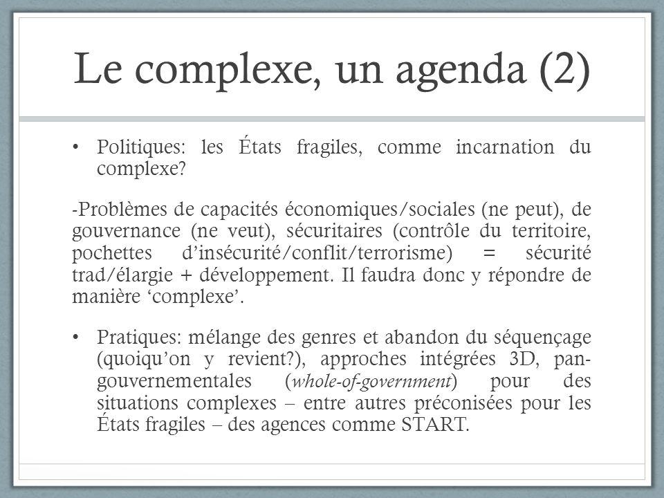 Le complexe, un agenda (2)