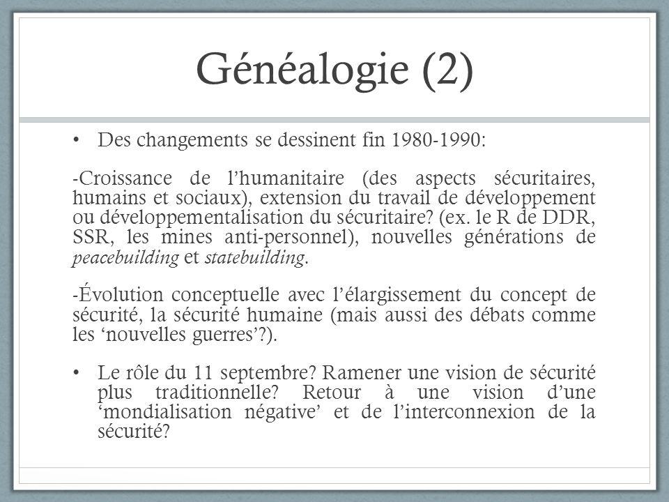 Généalogie (2) Des changements se dessinent fin 1980-1990: