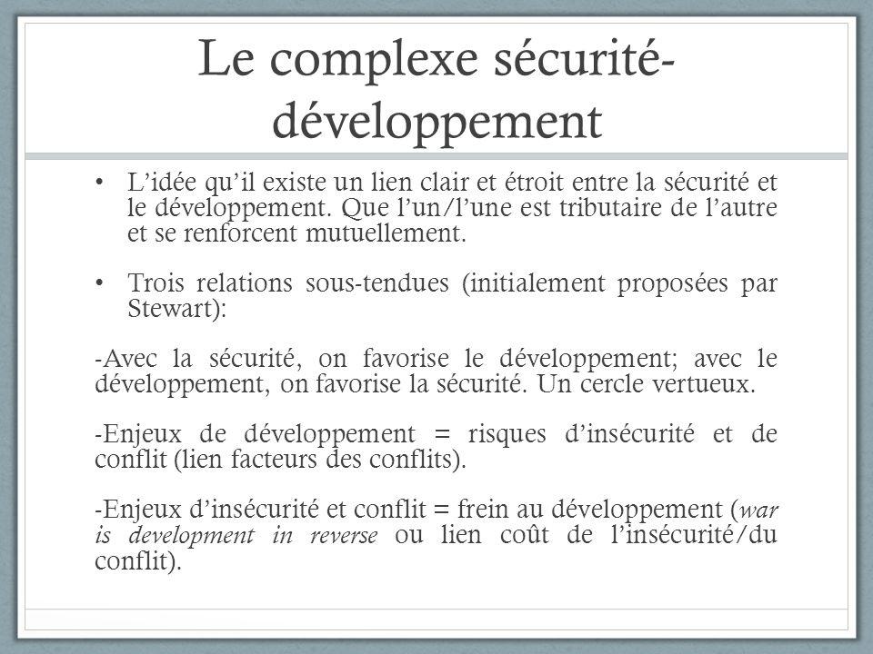 Le complexe sécurité-développement