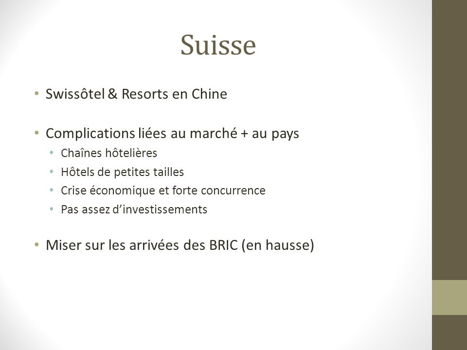 Suisse Swissôtel & Resorts en Chine