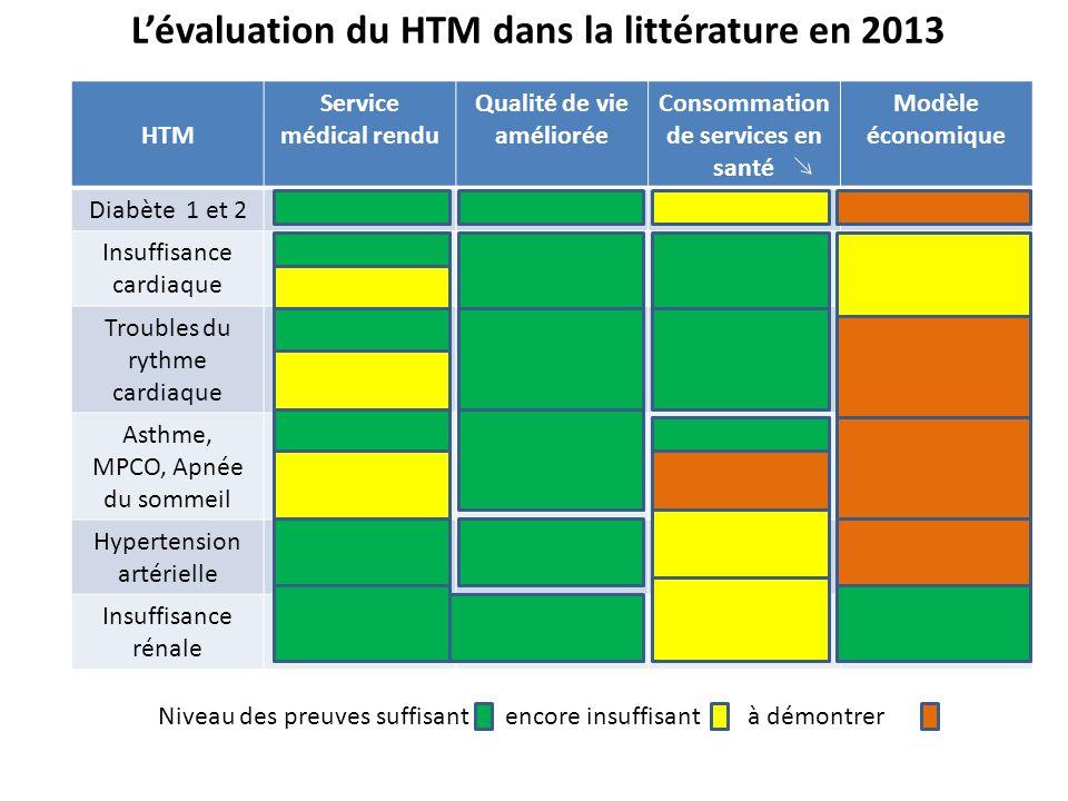 L'évaluation du HTM dans la littérature en 2013