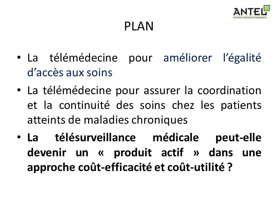 PLAN La télémédecine pour améliorer l'égalité d'accès aux soins