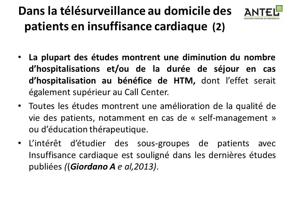 Dans la télésurveillance au domicile des patients en insuffisance cardiaque (2)