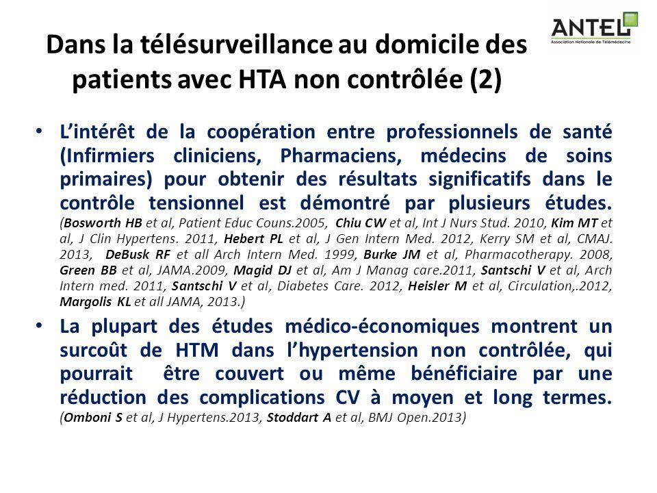 Dans la télésurveillance au domicile des patients avec HTA non contrôlée (2)