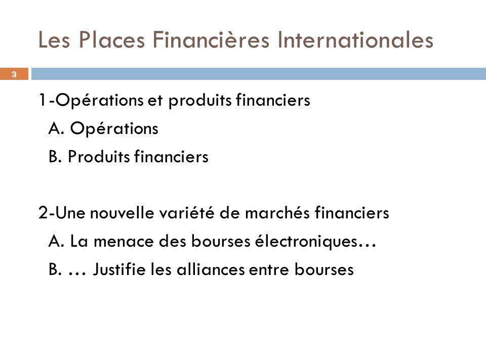 Les Places Financières Internationales