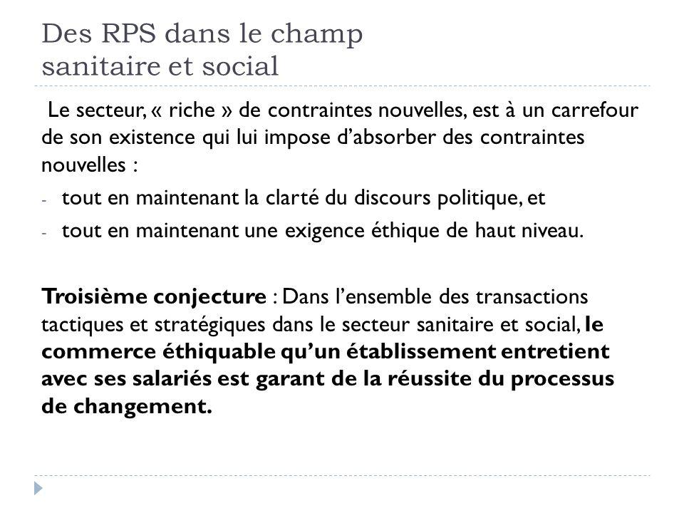 Des RPS dans le champ sanitaire et social