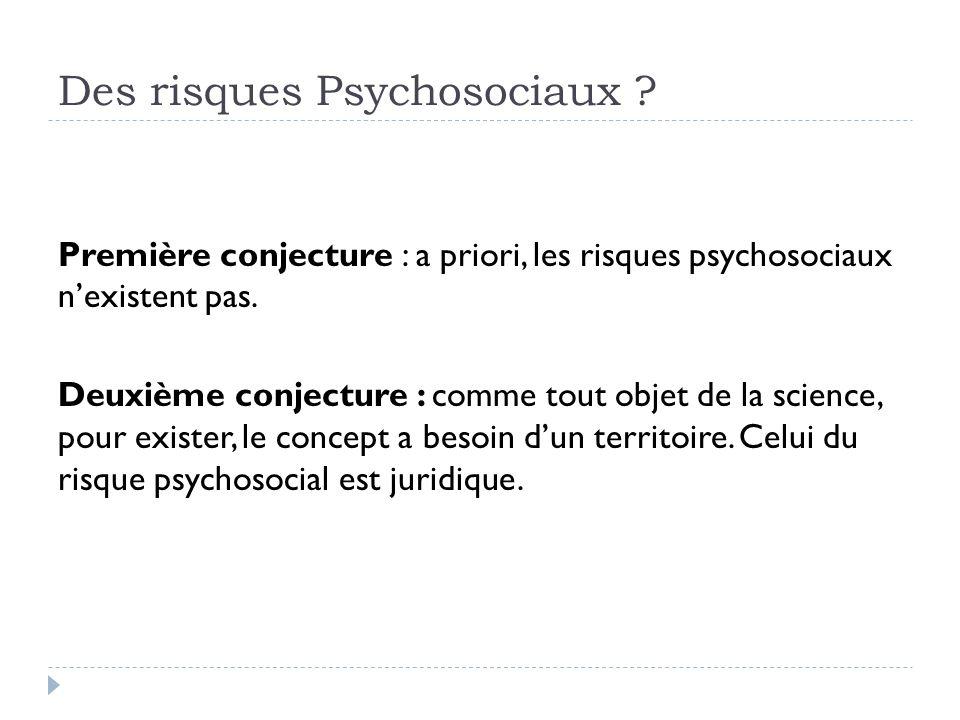 Des risques Psychosociaux