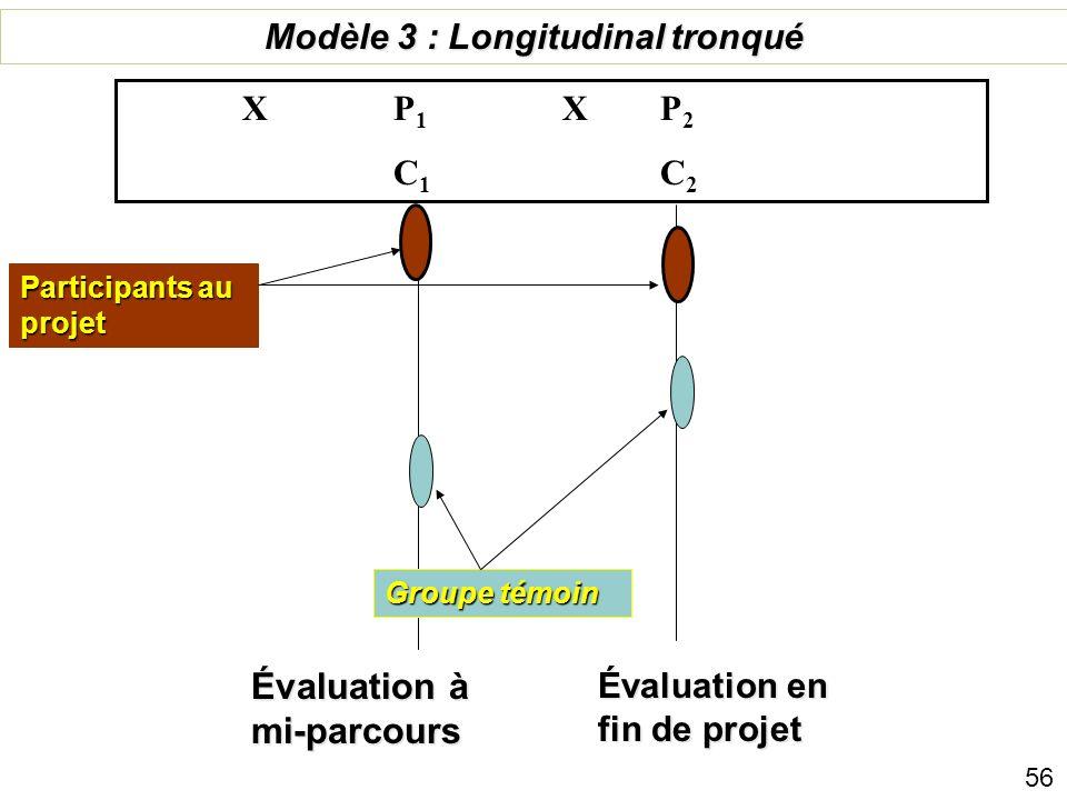 Modèle 3 : Longitudinal tronqué