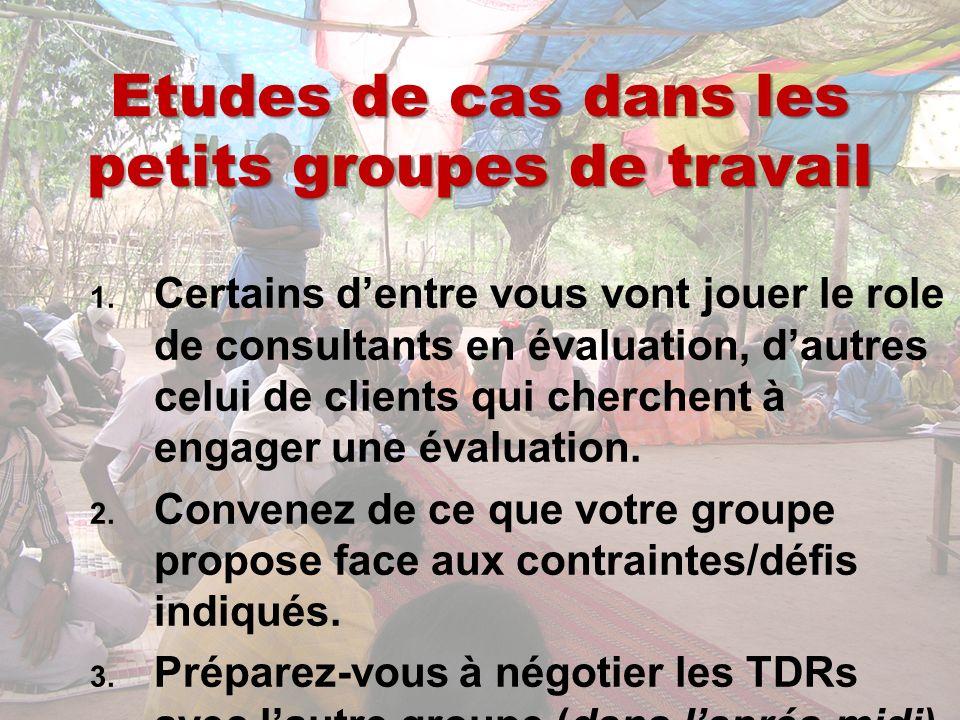 Etudes de cas dans les petits groupes de travail