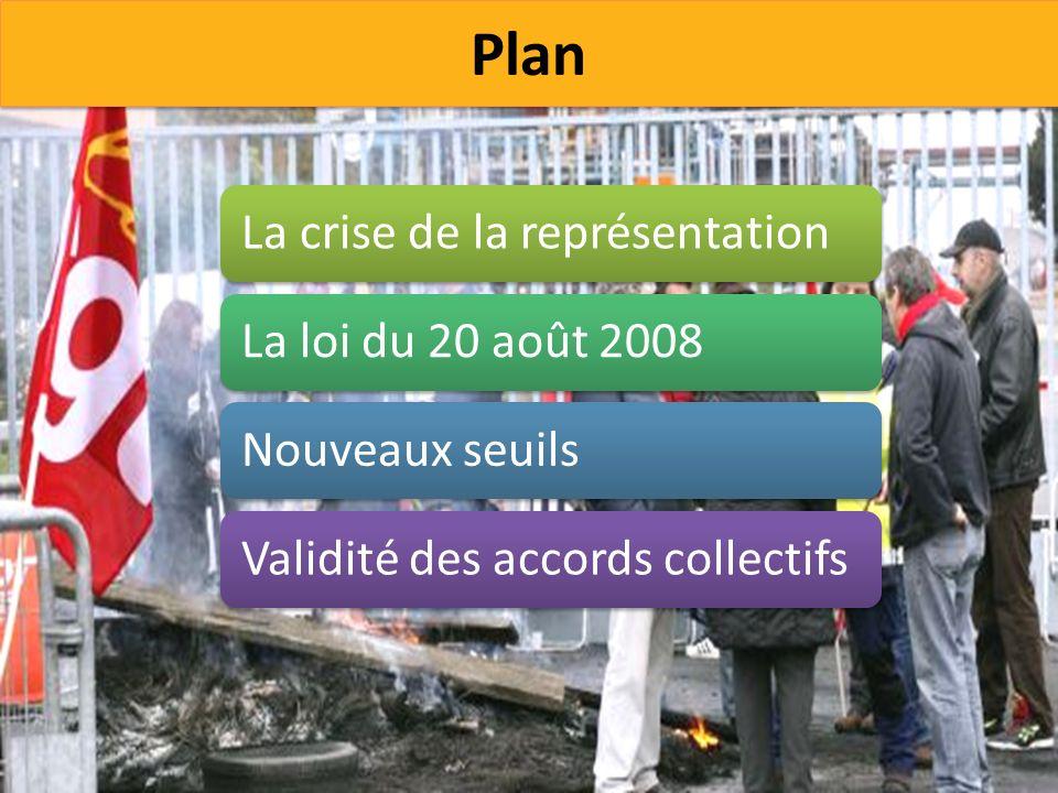 Plan La crise de la représentation La loi du 20 août 2008