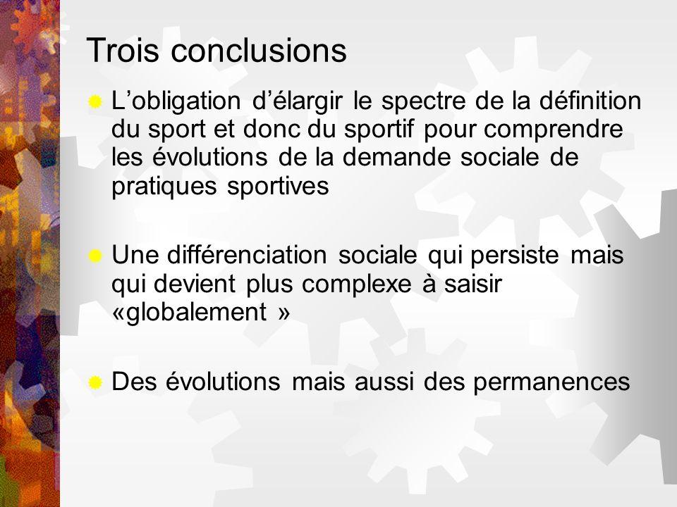 Trois conclusions