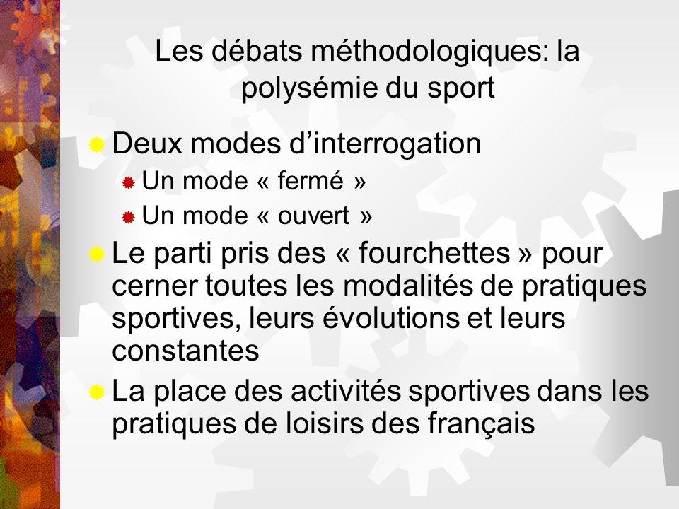 Les débats méthodologiques: la polysémie du sport