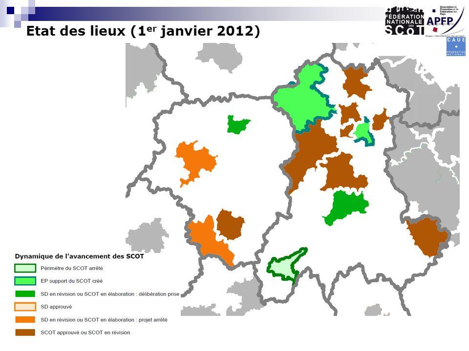 Etat des lieux (1er janvier 2012)