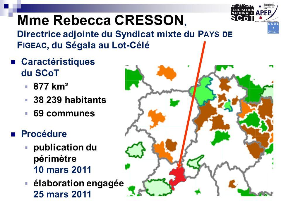 Mme Rebecca CRESSON, Directrice adjointe du Syndicat mixte du Pays de Figeac, du Ségala au Lot-Célé