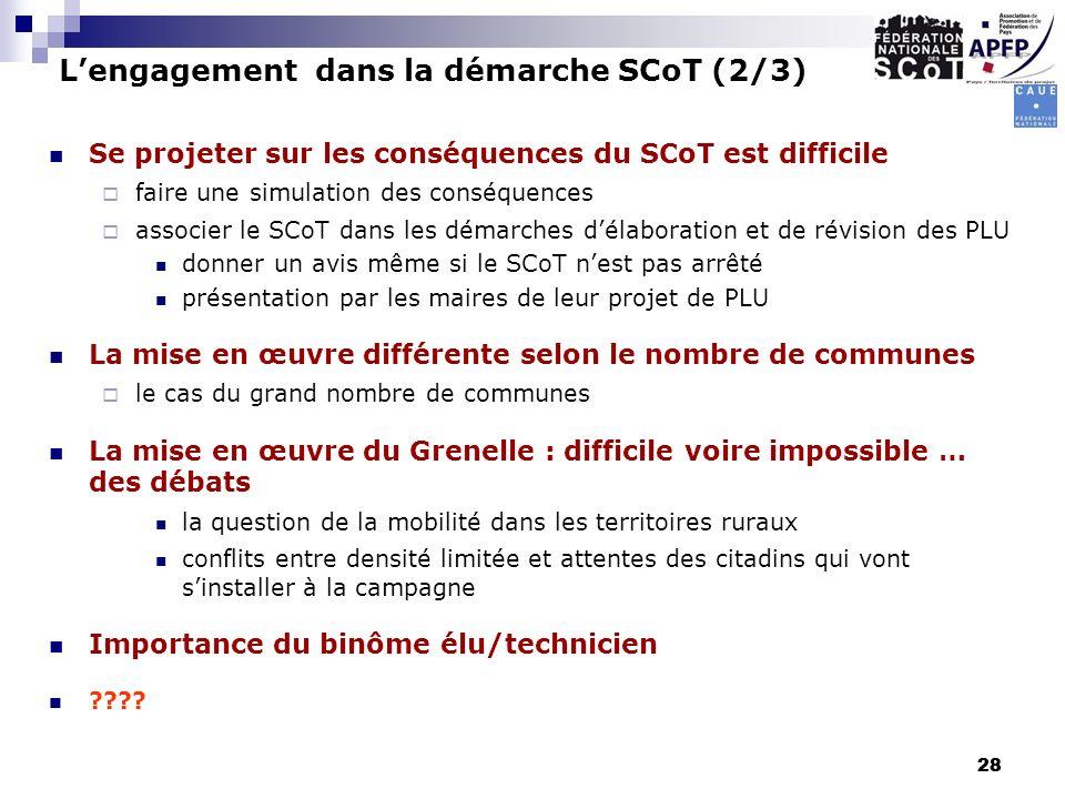 L'engagement dans la démarche SCoT (2/3)