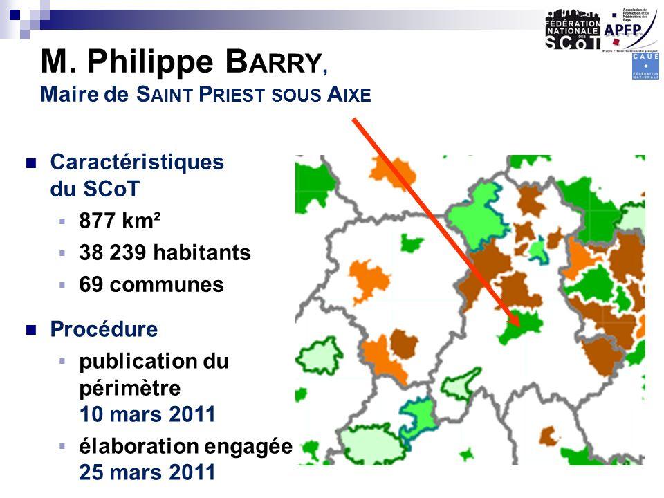 M. Philippe Barry, Maire de Saint Priest sous Aixe