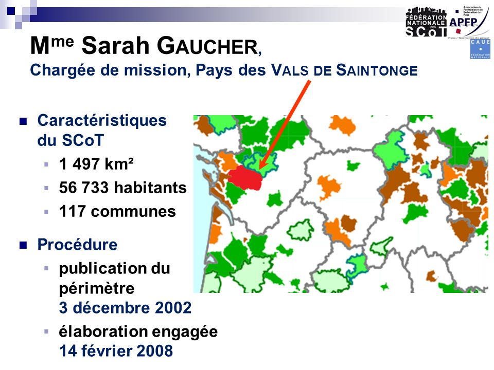 Mme Sarah Gaucher, Chargée de mission, Pays des Vals de Saintonge