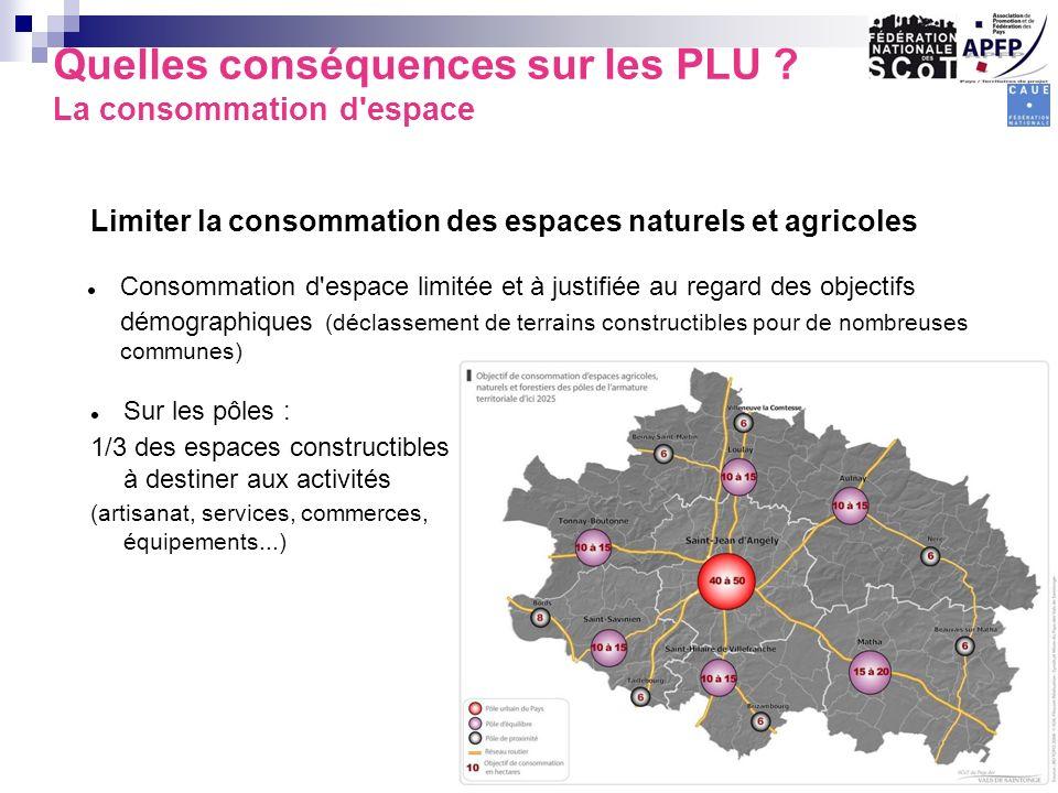 Quelles conséquences sur les PLU La consommation d espace