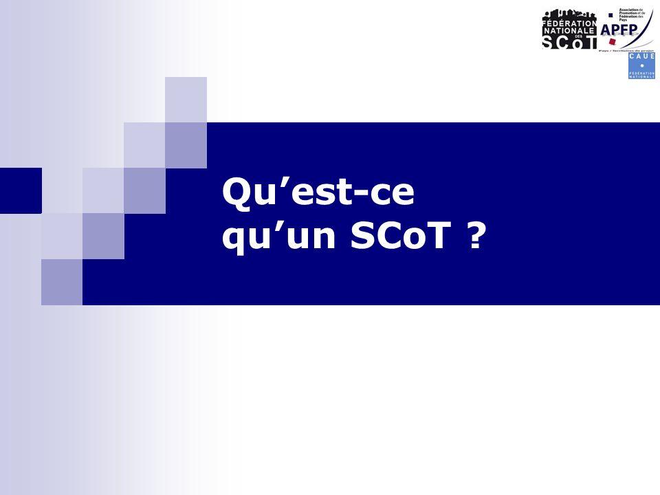 Qu'est-ce qu'un SCoT