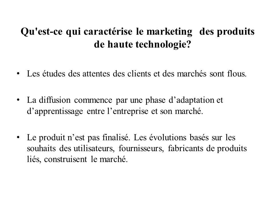 Qu est-ce qui caractérise le marketing des produits de haute technologie