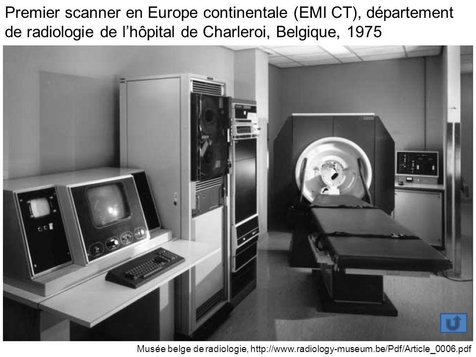 Premier scanner en Europe continentale (EMI CT), département de radiologie de l'hôpital de Charleroi, Belgique, 1975
