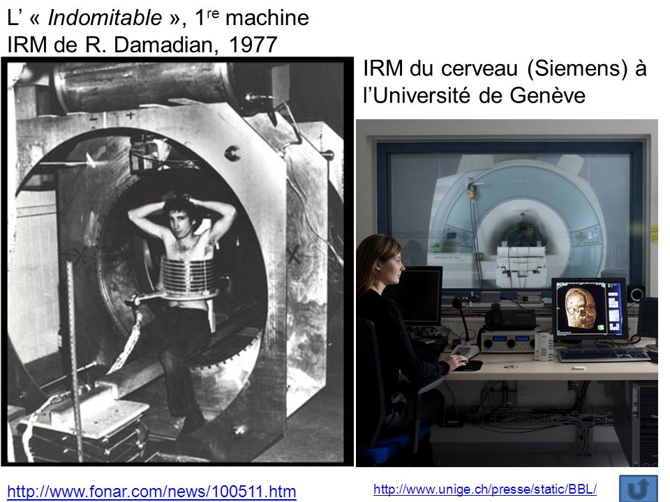 L' « Indomitable », 1re machine IRM de R. Damadian, 1977