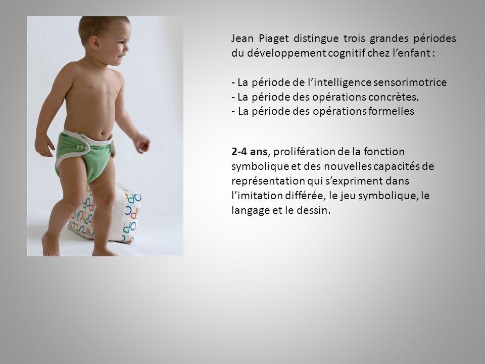 Jean Piaget distingue trois grandes périodes du développement cognitif chez l'enfant :