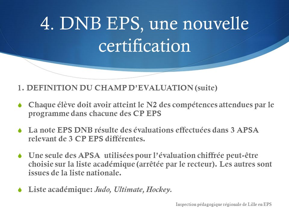 4. DNB EPS, une nouvelle certification