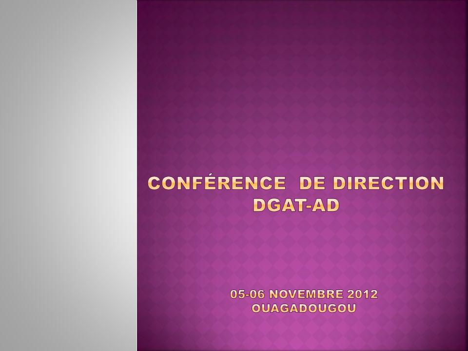 Conférence DE DIRECTION DGAT-AD