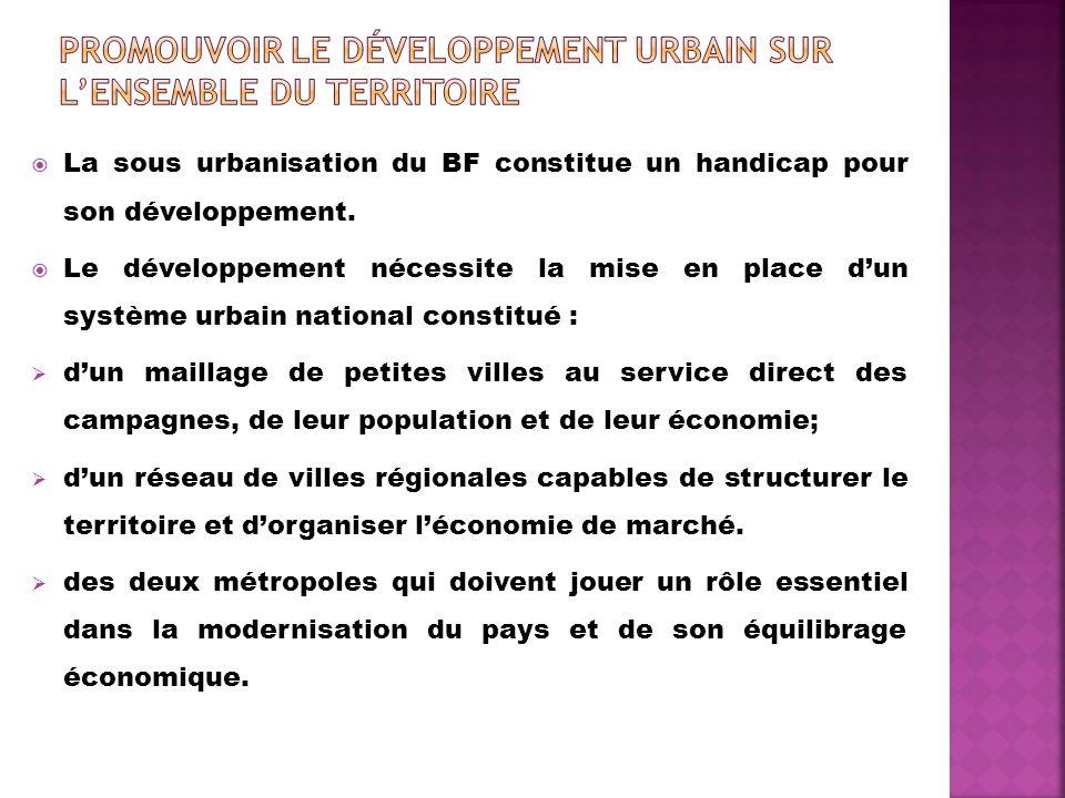 Promouvoir Le développement urbain sur l'ensemble du territoire