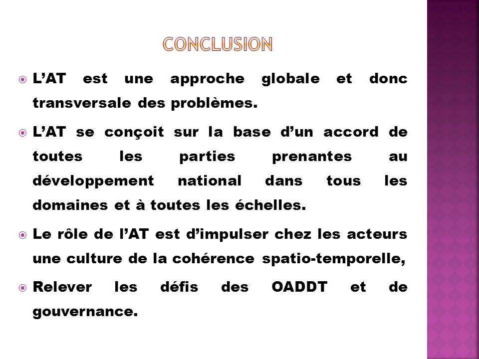 Conclusion L'AT est une approche globale et donc transversale des problèmes.