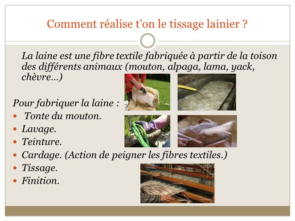 Comment réalise t'on le tissage lainier