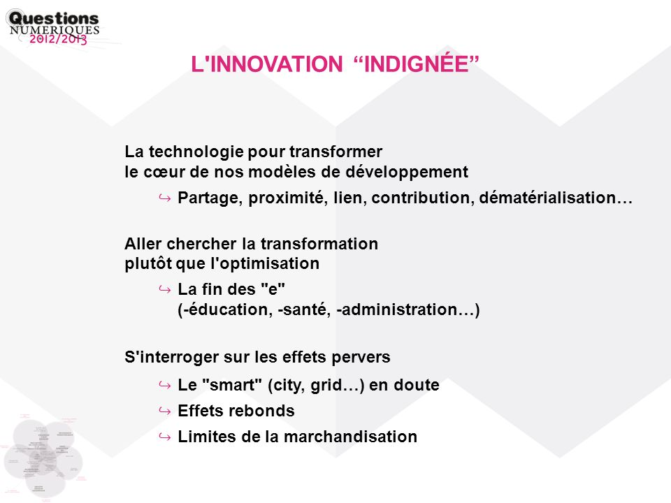 L INNOVATION INDIGNÉE