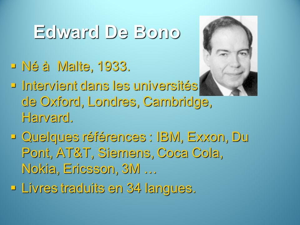 Edward De Bono Né à Malte, 1933.