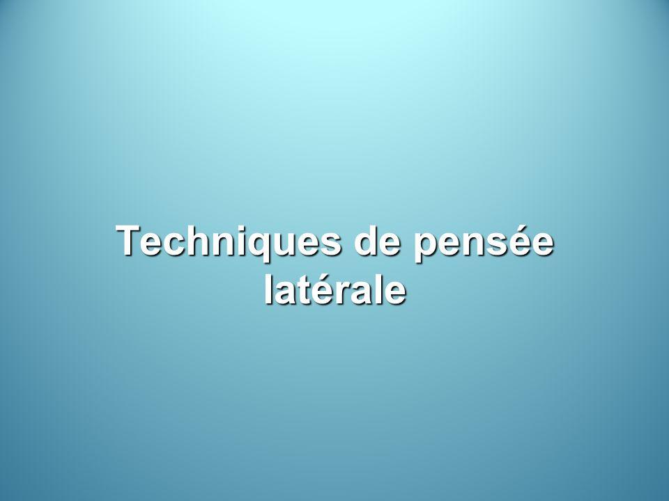 Techniques de pensée latérale